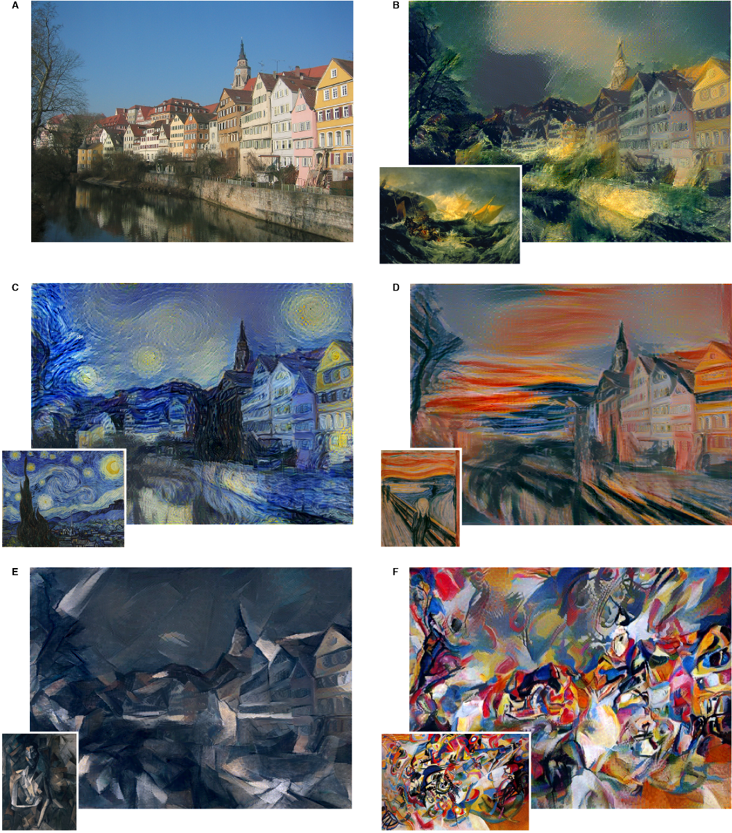 Right: The exhibit photo for A Neural Algorithm of Artistic Style