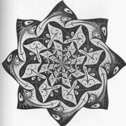 Path of Life I - M.C. Escher, 1957 woodcut