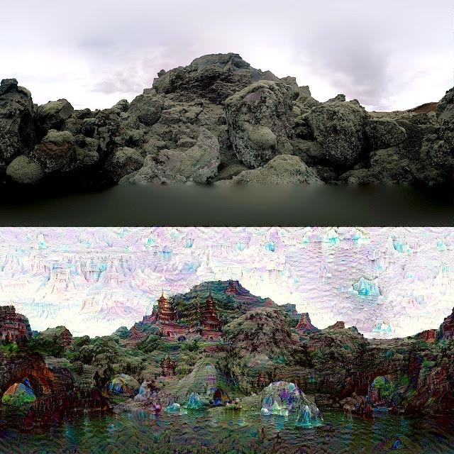Left: Original Deep Dream demonstration image